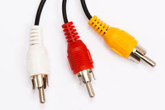 Three RCA plugs Royalty Free Stock Image