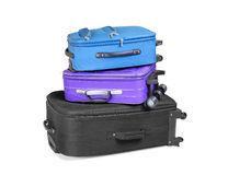 Three Ready Suitcases Stock Photography