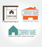 Three real estate logos,company name Royalty Free Stock Photo