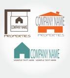 three real estate logos,company name Royalty Free Stock Photo