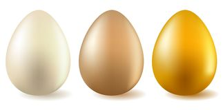 Three realistic eggs Royalty Free Stock Image