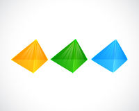Three Realistic Triangle Bubble for template Royalty Free Stock Images