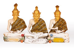 Three recluse statue in temple Royalty Free Stock Photography