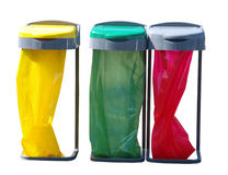 Three Recycling Bags royalty free stock photography