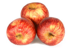 Three Red Apples. Stock Images