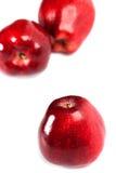 Three red apples Stock Photos