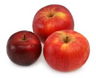 Three Red Apples Stock Photography