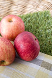 Three red apples Royalty Free Stock Photo