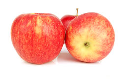 Three red apples isolated. Stock Photo