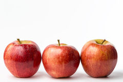 Three red apples Royalty Free Stock Photos