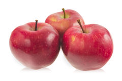 Three red apples Royalty Free Stock Images