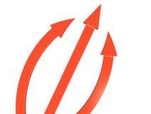 The three red arrows  №2 Stock Photos