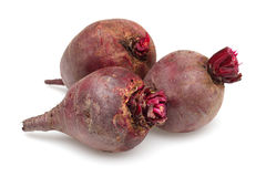 Three Red Beet Royalty Free Stock Images