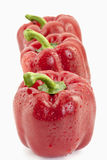 Three red bell peppers Royalty Free Stock Photo