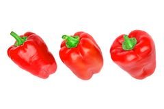 Three Red Bell Peppers Stock Images