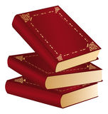 Three Red Books Royalty Free Stock Photos