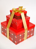 Three red boxes Royalty Free Stock Photography