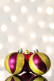 Three red Christmas ball Royalty Free Stock Photo