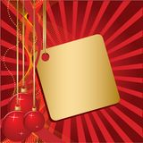 Three red christmas ball Royalty Free Stock Photography