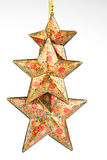 Three red colored stars Stock Images