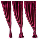 Three red curtains