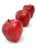 Three Red Delicious Apples royalty free stock photography