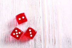 Three red dices Stock Photography