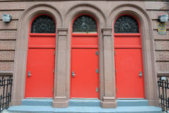 Three Red Doors Royalty Free Stock Photo