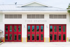 Three red doors Stock Photography
