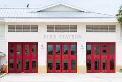 Three red doors Stock Photography