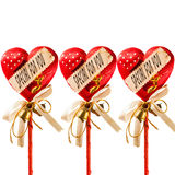 Three red heart for gift Royalty Free Stock Photo