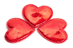 Three red hearts Royalty Free Stock Photography