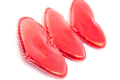 Three red hearts Royalty Free Stock Photos