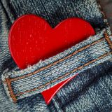 Rustic Red Heart royalty free stock photo