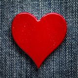 Rustic Red Heart stock images
