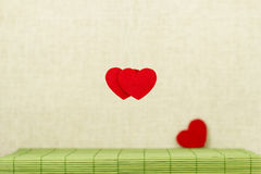 Three red hearts Stock Photography