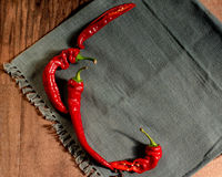 Three red hot pepper Royalty Free Stock Photography