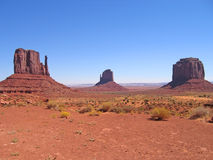 Three red peaks. Monument Valley National Park - United States Royalty Free Stock Images