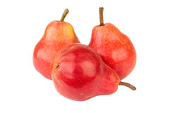 Three red pear Royalty Free Stock Image