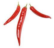 Three red peppers. Stock Photography