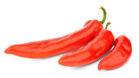 Three red peppers Royalty Free Stock Photos