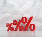 Three red percent Royalty Free Stock Photography