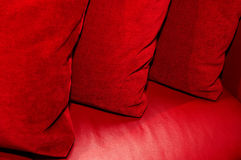 Three red pillow Royalty Free Stock Photos