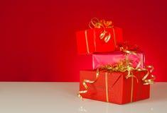 Three presents Stock Photo