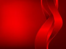 Three_red_ribbons. Three red ribbons on dark background Stock Photography