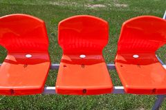 Three red seat Royalty Free Stock Photos