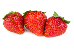 Three of red strawberry Stock Photo