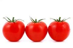 Three red tomato Stock Photo