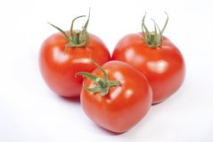 Three red tomatoes Royalty Free Stock Photos