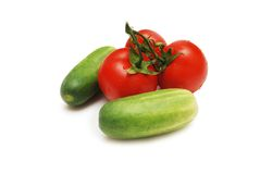 Three red tomatoes Royalty Free Stock Photo